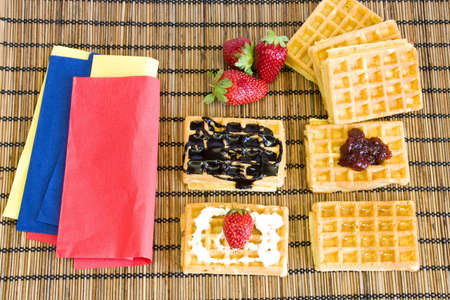 preparing sweet snacks for the road Banco de Imagens
