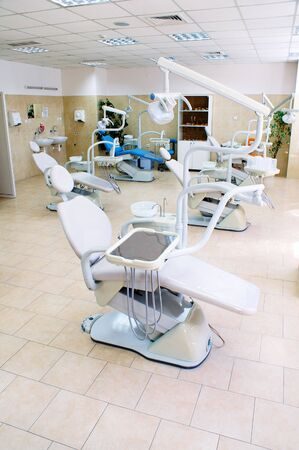 Interior of a dental medicine clinic , dental chair and equipment , orthodontics department Stock Photo - 7542772