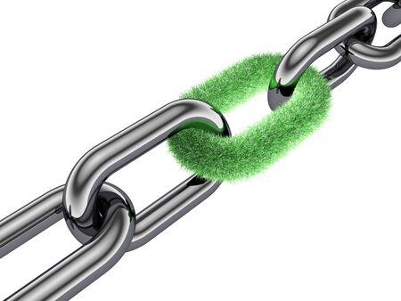 la union hace la fuerza: cadena 3D, enlace de hierba, protecci�n de la naturaleza