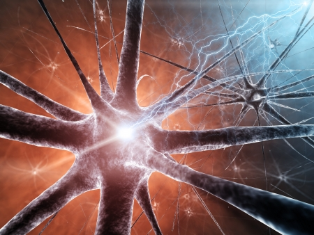 neural: Neural network , detailed illustration Stock Photo