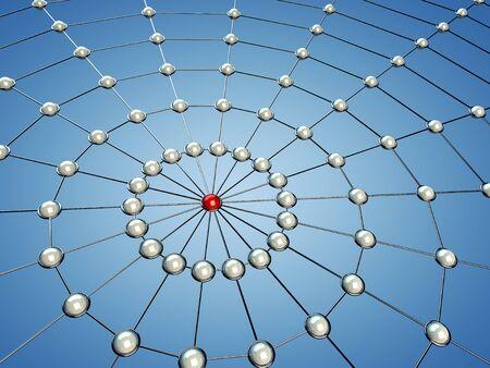 Model of a network , 3d illustration illustration