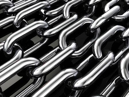 cohesiveness: Multiple chains , 3d illustration