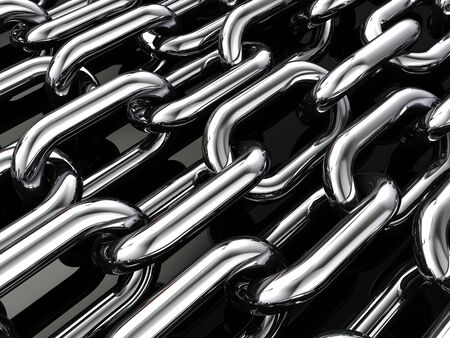 Multiple chains , 3d illustration