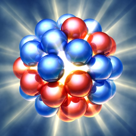 gamma: Nuclear fission , 3d illustration