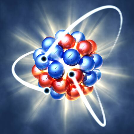 Nuclear fission , 3d illustration