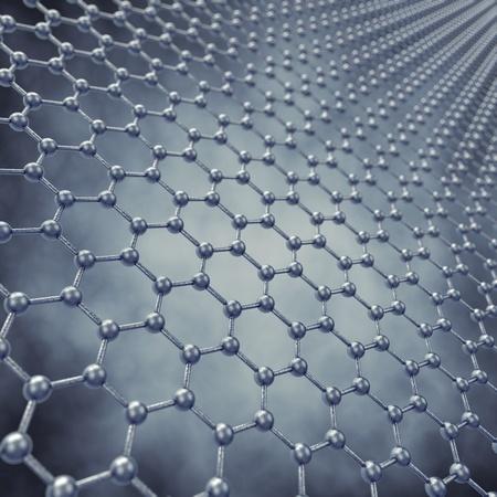 nano: Graphene sheet model , 3d illustration