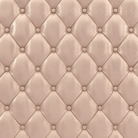 padding: Beige leather upholstery pattern , 3d illustration Stock Photo