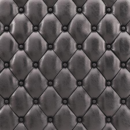 Black leather upholstery pattern , 3d illustration illustration