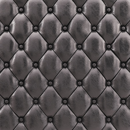upholstered: Black leather upholstery pattern , 3d illustration