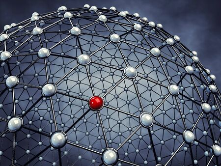 сеть: Модель глобальной сети, 3d иллюстрации