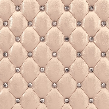 padding: Beige upholstery pattern with diamonds , 3d illustration