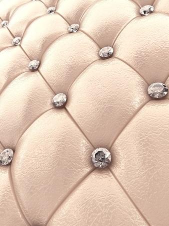 Beige upholstery pattern with diamonds , 3d illustration illustration