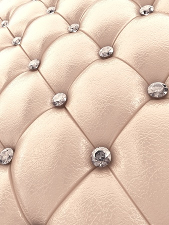 padding: Beige upholstery pattern with diamonds , 3d illustration