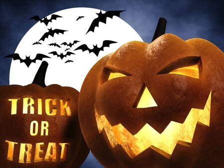 3d halloween: Halloween scene