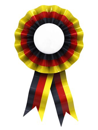 award ribbon rosette: German cockade , kokarde , isolated on white