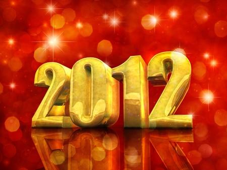 Happy New Year , 2012 Stock Photo - 10984593