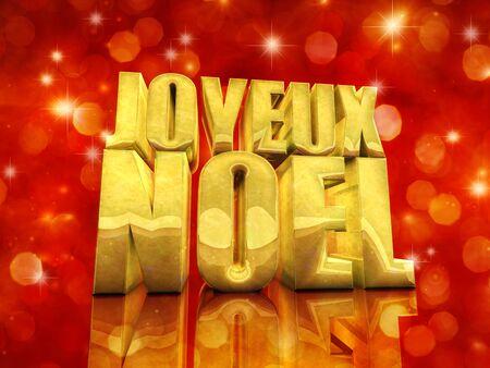 french text: Joyeux Noel  Merry Christmas , best wishes