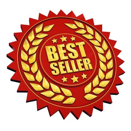 Garantie Meilleur vendeur, isolé sur blanc Banque d'images
