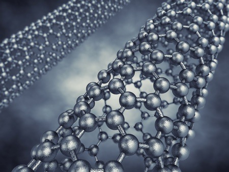 Graphene tubes model , 3d illustration illustration