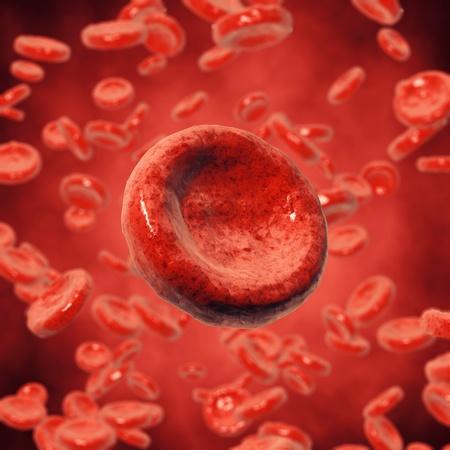 vasos sanguineos: Los gl�bulos rojos, ilustraci�n 3d Foto de archivo