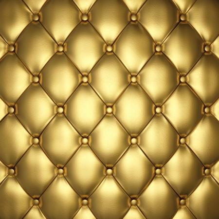 �gold: Oro tapicer�a de cuero, ilustraci�n 3d