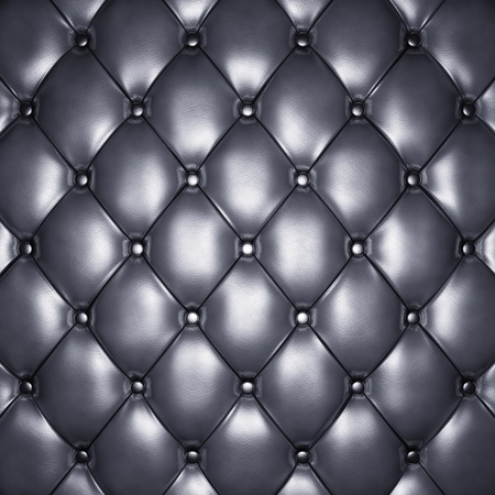 upholstered: Silver leather upholstery , 3d illustration