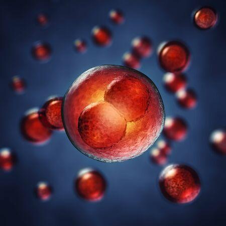 genes: Dos de las c�lulas del embri�n, ilustraci�n 3d