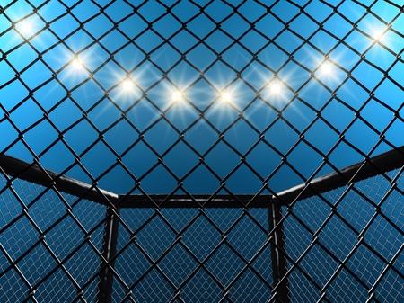Lutte cage, illustration 3d