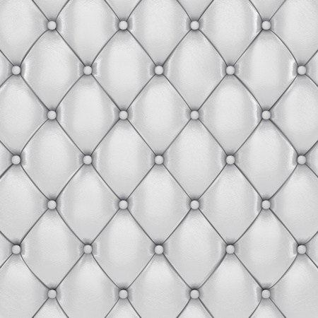 upholstered: White leather upholstery pattern , 3d illustration Stock Photo
