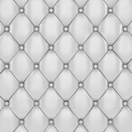 padding: White leather upholstery pattern , 3d illustration Stock Photo
