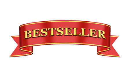 Red and gold promotional banner , Bestseller photo
