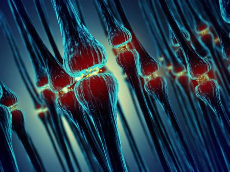 impulse: Synaptischen �bertragung, Menschliches Nervensystem Lizenzfreie Bilder