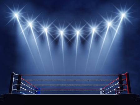 ring de boxe et projecteurs
