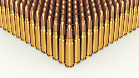 bullets: bullets on white background