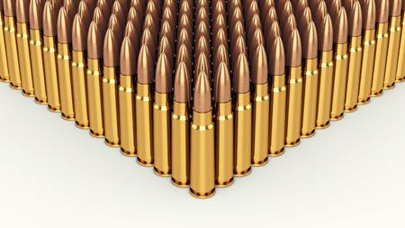 ammo: bullets on white background