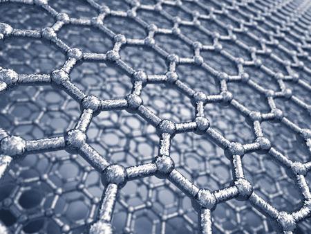 modèle de feuilles de graphène, nanotechnologie