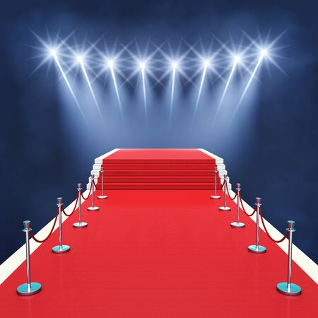 awards ceremony: Red carpet event with spotlights , Award ceremony , Premiere
