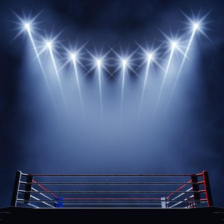 cerillas: Ring de boxeo y proyectores evento Boxeo