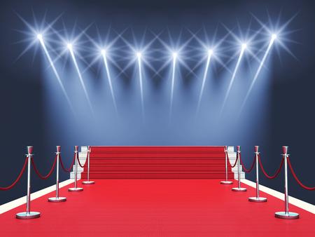 Feier: Roter Teppich mit Strahlern Auszeichnung ceremonyPremiere