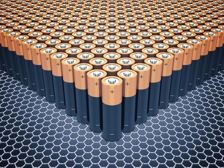 graphene: Graphene supercapacitor batteries , Nanotechnology , Graphene batteries Stock Photo