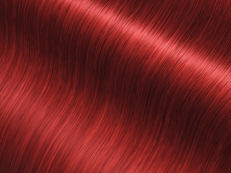 pelo: Largo de lujo rojo del cabello, cuidado del cabello y la coloraci�n