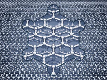 allotrope: Graphene sheets structure , Nanotechnology Stock Photo