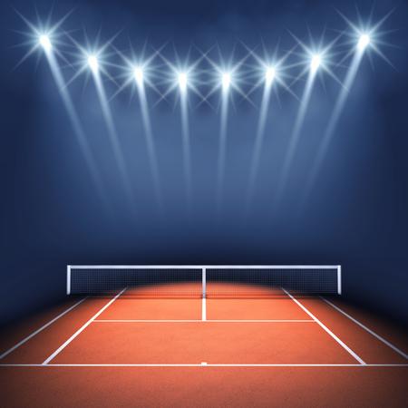 tennis net: Tennis court and floodlights , Tennis tournament