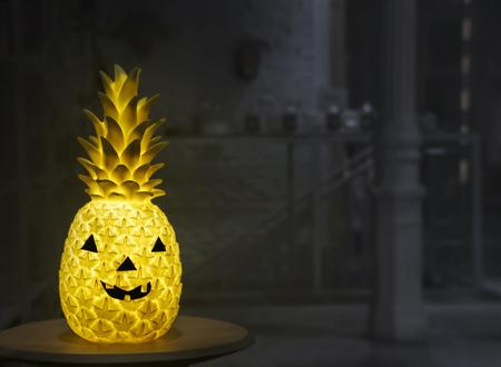 Jack o lantern Halloween pineapple