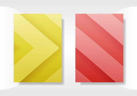 Minimal cover templates. abstract 3d geometric illustration.