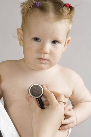 malady: Little girl Stock Photo