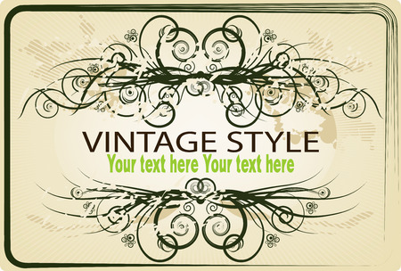 vector clipart: Vintage frame