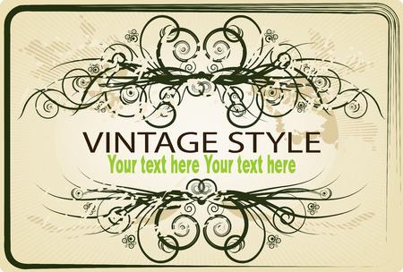 vector borders: Vintage frame