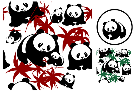 Pandas seamless Stock Vector - 3020744