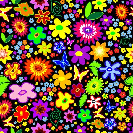 Seamless flowers Vector